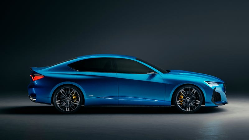 Illustration for article titled The Acura Type S Concept Is The Cab-Back FWD Sedan We Need