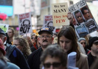 Occupy Wall Street protesters (Getty Images)