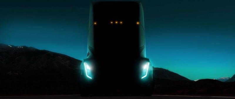 Imagen: Adelanto del primer camión eléctrico de Tesla.