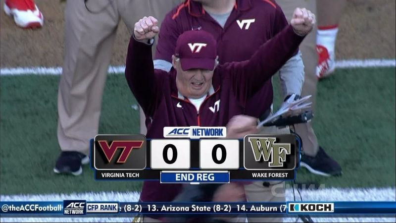 Illustration for article titled Virginia Tech AD Says Hokies Received Wake Forest Game Plan Before Football Game