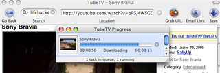Illustration for article titled Download and convert YouTube videos for your iPod/iPhone with TubeTV