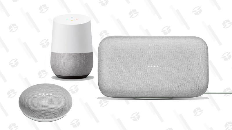 Google Home Hub with a free Smart Light Kit | $79 | WalmartGoogle Home Mini | $25 | WalmartGoogle Home | $69 | WalmartGoogle Home Max | $250 | Walmart