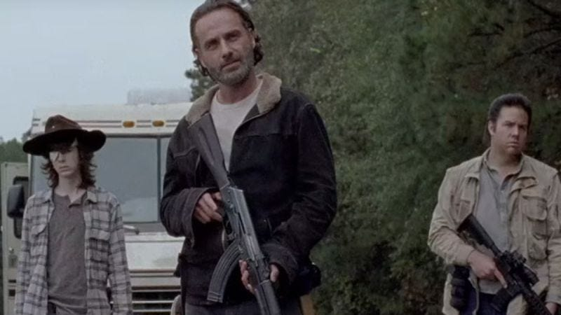Coral still got the old eyepatch (Photo: The Walking Dead/AMC)