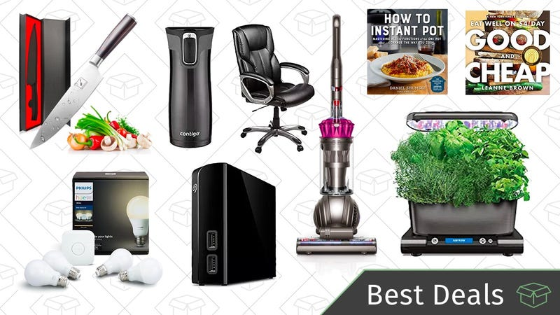 Illustration for article titled Saturday's Best Deals: Philips Hue Lights, Contigo Travel Mugs, Cooking Essentials, and More