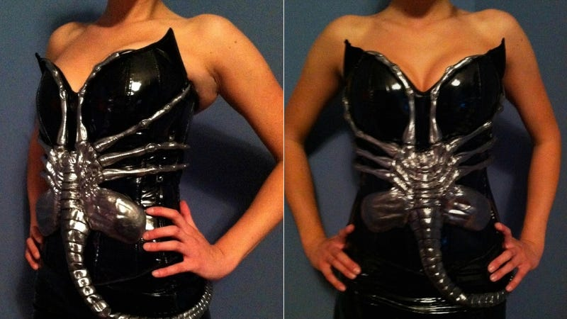 Illustration for article titled 'Honey, If I Bought this Facehugger Corset for You, Would You Wear It for Me?'