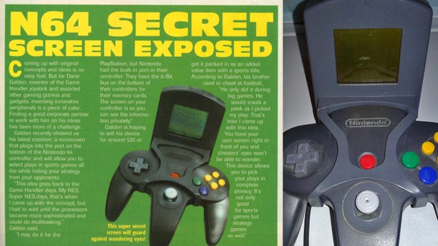 The N64 Controller Almost Had its Own Private Second Screen