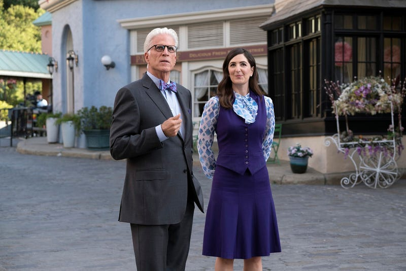 Ted Danson, D'Arcy Carden (Photo: Colleen Hayes/NBC)