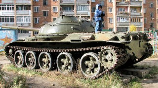 Illustration for article titled This Russian city uses old Soviet tanks as playgrounds