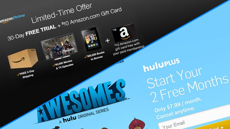 Free Trials of Hulu Plus and Amazon Prime are Worth Your Time
