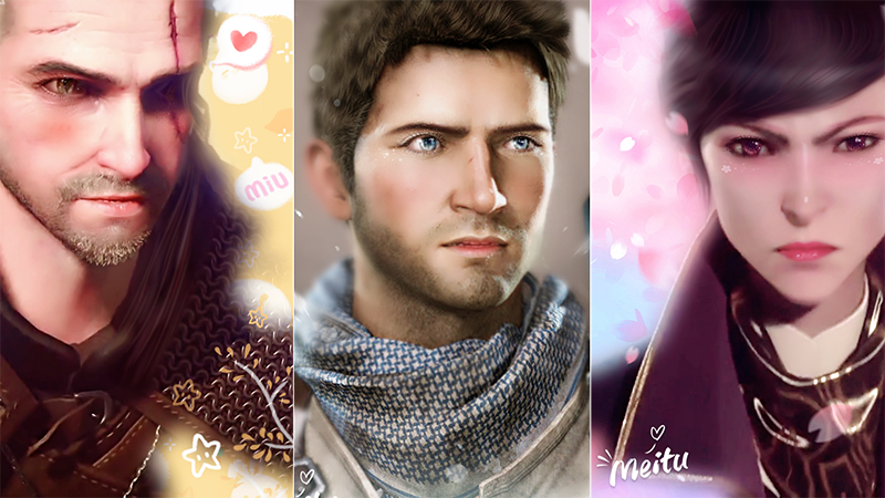 Illustration for article titled Meitu Transforms Video Game Heroes Into Beautiful Waifus