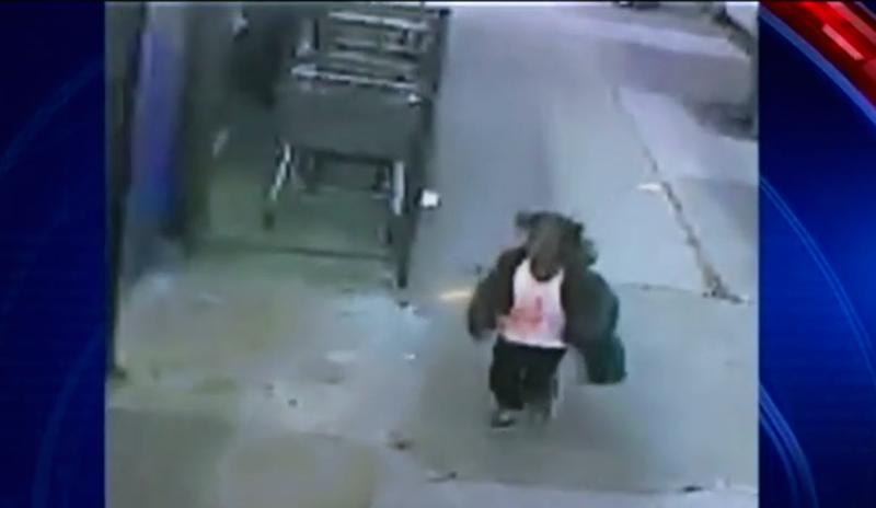 Essie Miller was seen on surveillance footage running toward a store in Queens, N.Y. (screenshot)