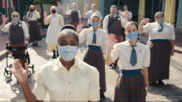 Disney World releases dystopian footage of masked employees welcoming visitors on reopening day