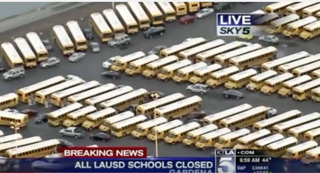 All Los Angeles public schools were promptly closed after what has been reported as a credible bomb threat. YouTube screenshot