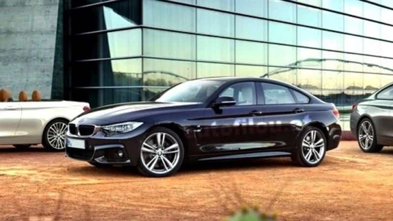 Illustration for article titled BMW 4-Series Gran Coupe: This Is It