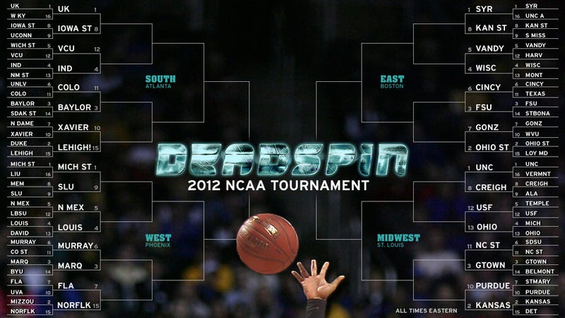 Illustration for article titled Deadspin Does March Madness, Day Two