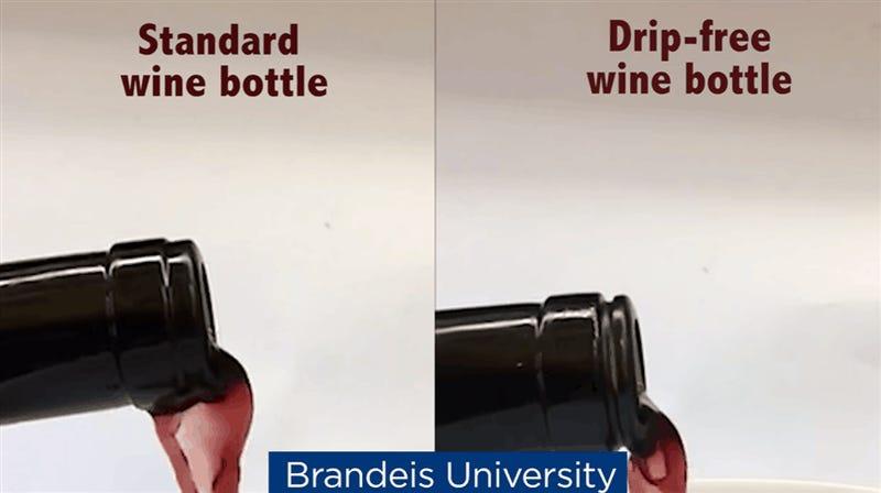 Un científico creó una botella de vino que no derrama para que no vuelvas a manchar el mantel
