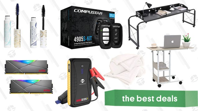 Sunday s Best Deals: Compustar Remote Start Kit, Buffy Cloud Comforters, XPG Spectrix RAM, Pacifica Vegan & Clean Mascara, Moock Jump Starter, and More