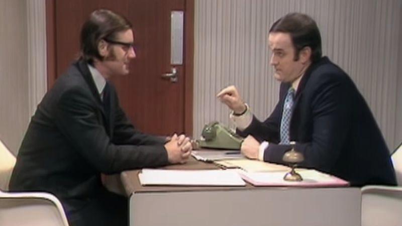 Michael Palin (left), John Cleese