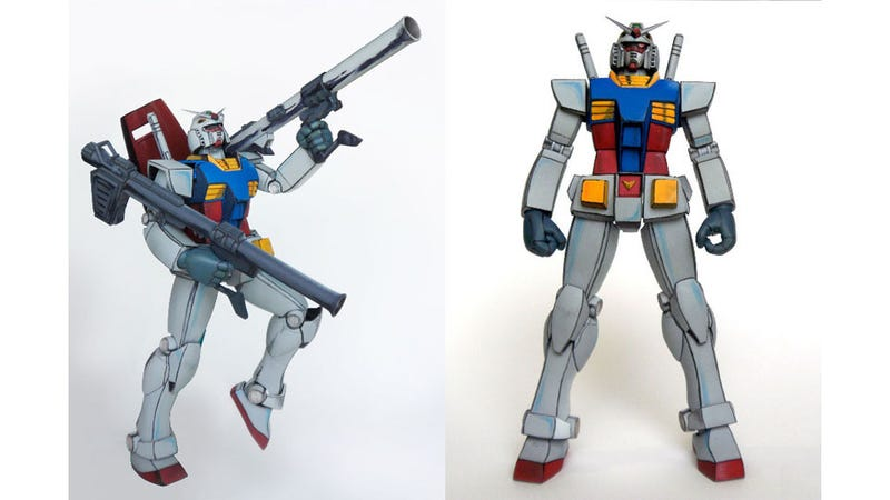 Illustration for article titled This Gundam Model Looks Right Out Of The Anime. Literally.