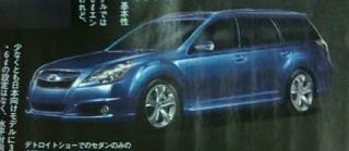 Illustration for article titled 2010 Subaru Legacy, Outback: Like The Concept, But Toned-Down