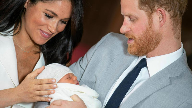 Meghan, the Duchess of Sussex, and Prince Harry introducing their 2-day-old baby boy to the world May 8, 2019