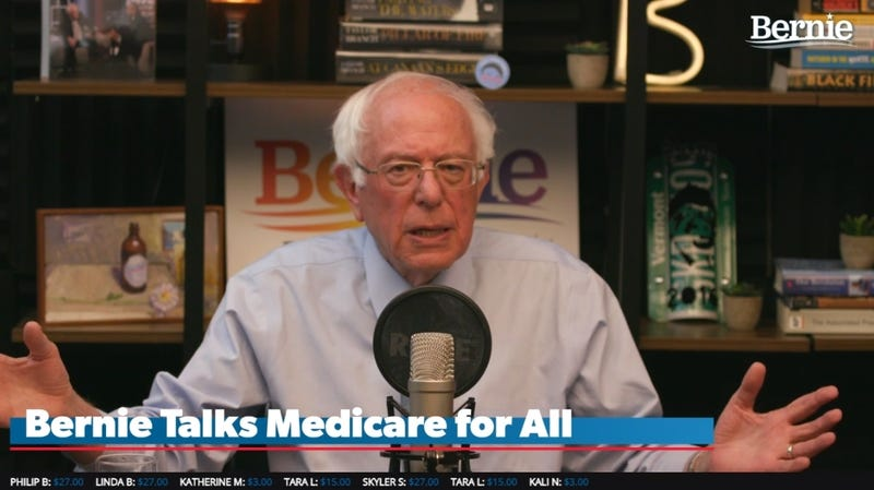 Illustration for article titled Bernie Sanders Finally Appears On His Own Twitch Channel—During Amazon Boycott