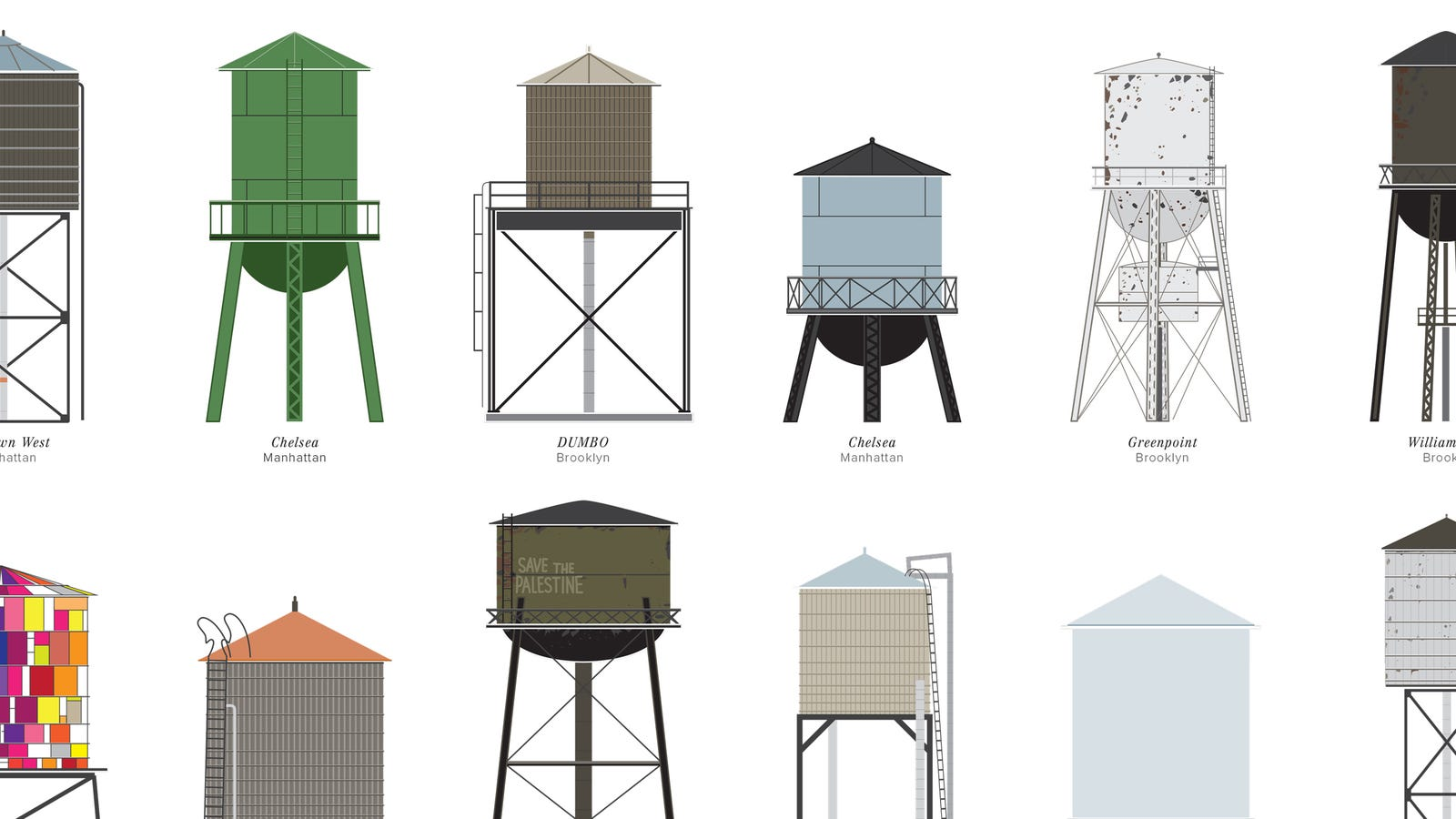 the dirty dilapidated and delightful water towers of new york city. Black Bedroom Furniture Sets. Home Design Ideas