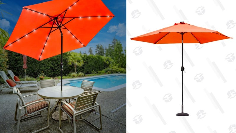 This 60 Patio Umbrella Comes With Solar Powered Lights