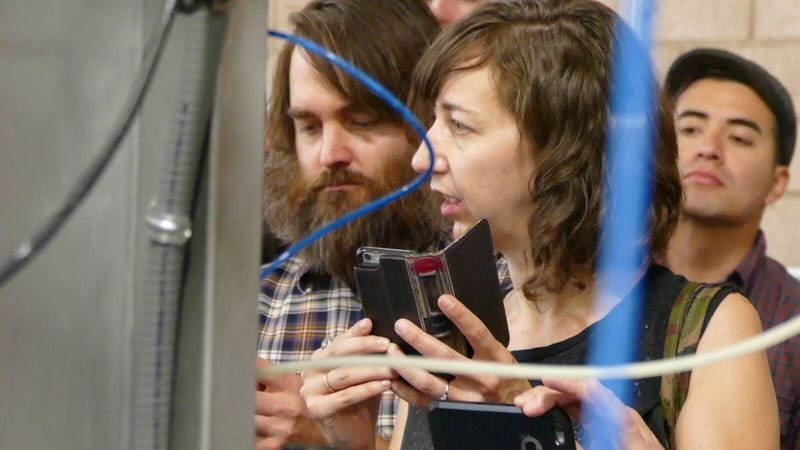 Illustration for article titled Kristen Schaal and Will Forte were like two kids when they visited a dildo factory