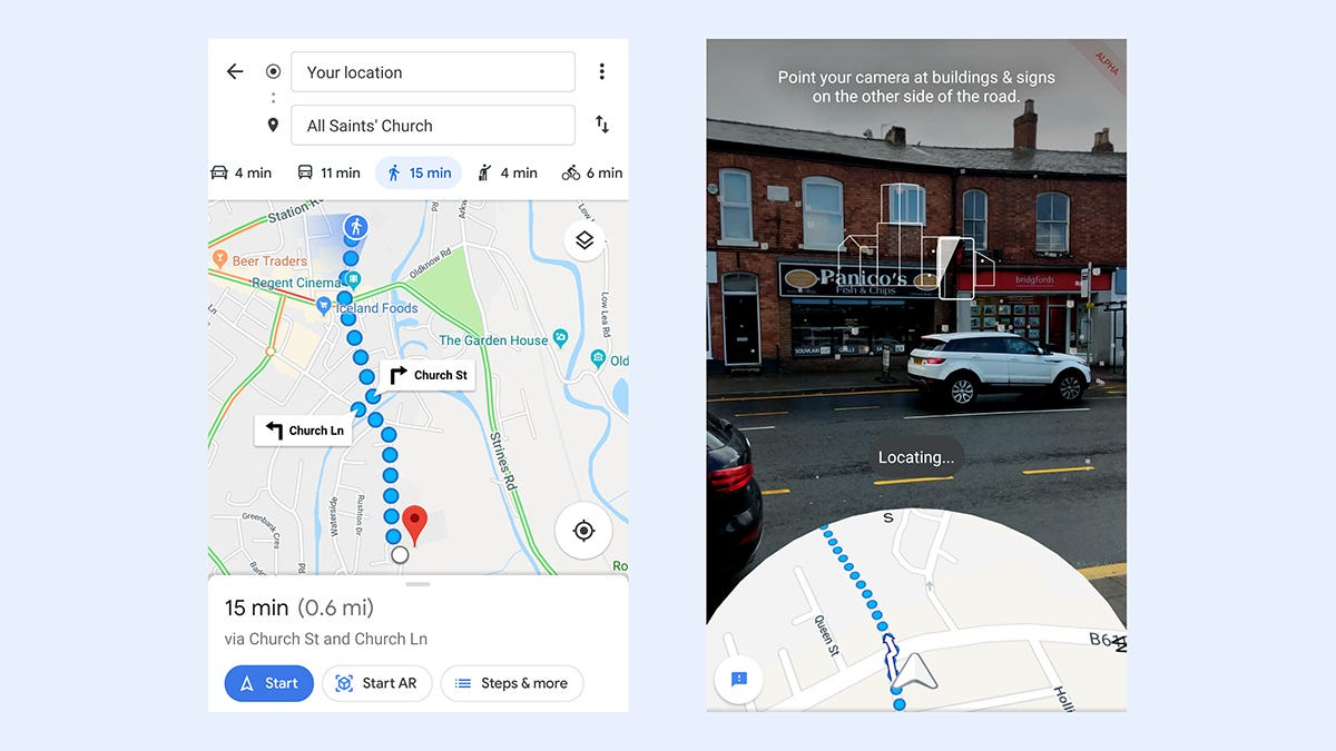 I Tried Google Maps' Experimental Walking Directions of the