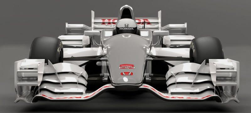 Illustration for article titled Honda's IndyCar Aero Kit Has Wings On Wings On Wings (On Wings)