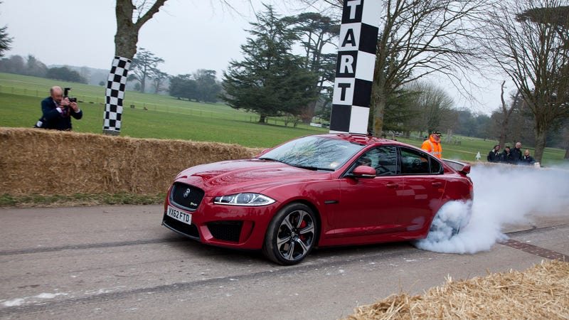 Illustration for article titled The New Jaguar XFR-S Is The Ultimate British Burnout Machine