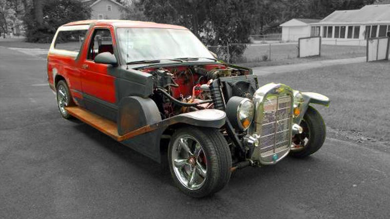 Illustration for article titled This Retro-Aristocrat Style Chevy S-10 May Be The Weirdest Rat Rod Ever