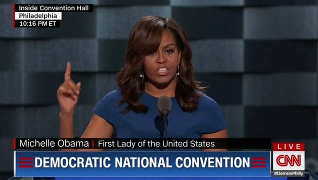 Here Are the Two Best Moments from the Best Speech of the Night, by Michelle Obama