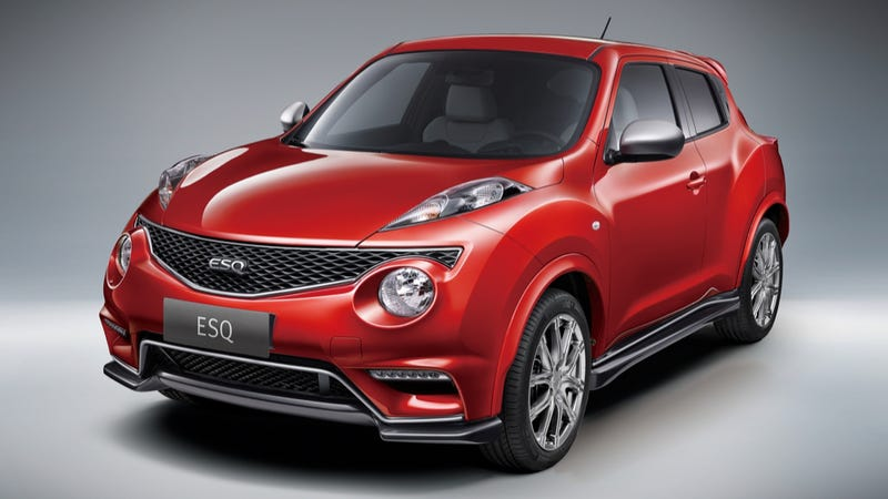 Illustration for article titled China-Only Infiniti ESQ Is A Rebadged Luxury Bizarro Juke Nismo RS