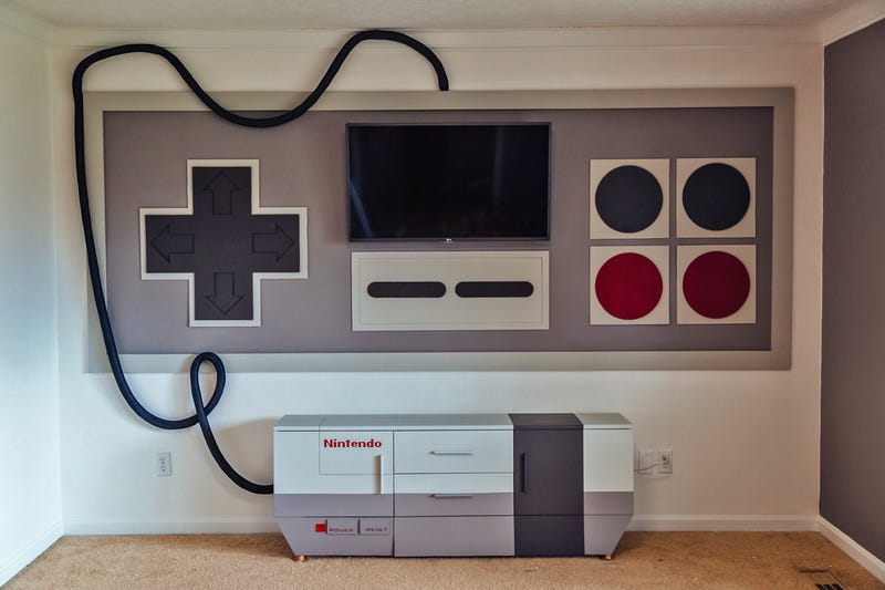 Illustration for article titled A Giant NES Home Theater Is Exactly How Duck Hunt Was Meant to Be Played