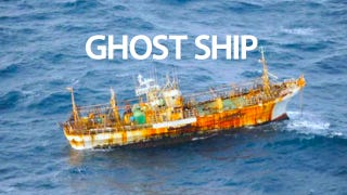 Illustration for article titled This Japanese Ghost Ship Lost in the Tsunami Was Found Floating Near the Coast of Canada