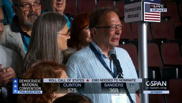 Watch Bernie Sanders's Delegate Brother Larry Sanders Emotionally Cast His Floor Vote For Bernie