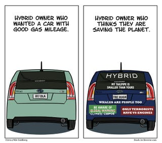 Illustration for article titled Take Note, Hybrid Drivers!