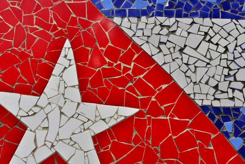A mosaic of a Cuban flag in Jaimanitas, Cuba Raul Touzon/National Geographic/Getty Images