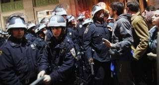Clash in Zuccotti Park (Spencer Platt/Getty Images)