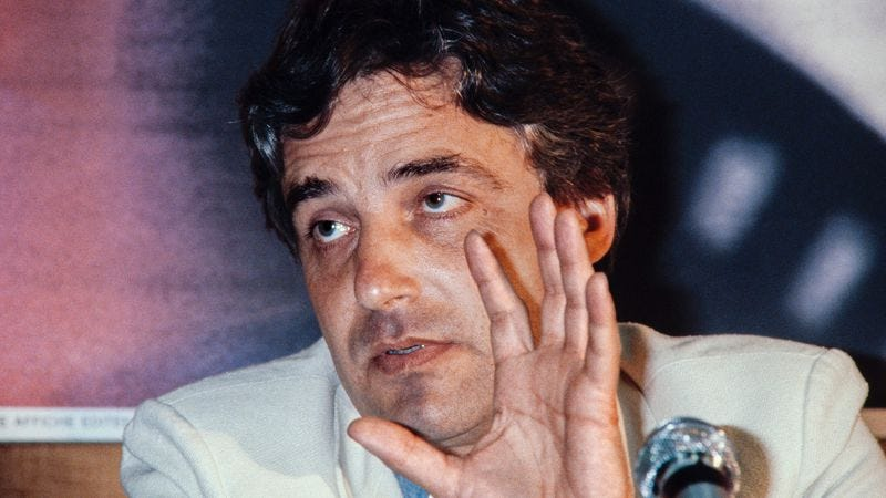 Zulawski speaks at Cannes in 1981. (Photo: Getty Images)