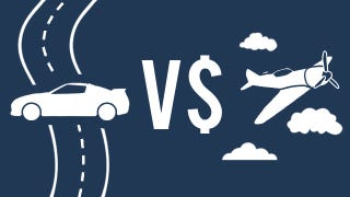 Illustration for article titled Compare the Cost and Time of Driving Versus Flying for Your Next Trip