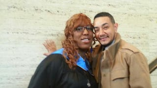 The author and her fiance, Shawn LopezCourtesy of Octavia Lewis