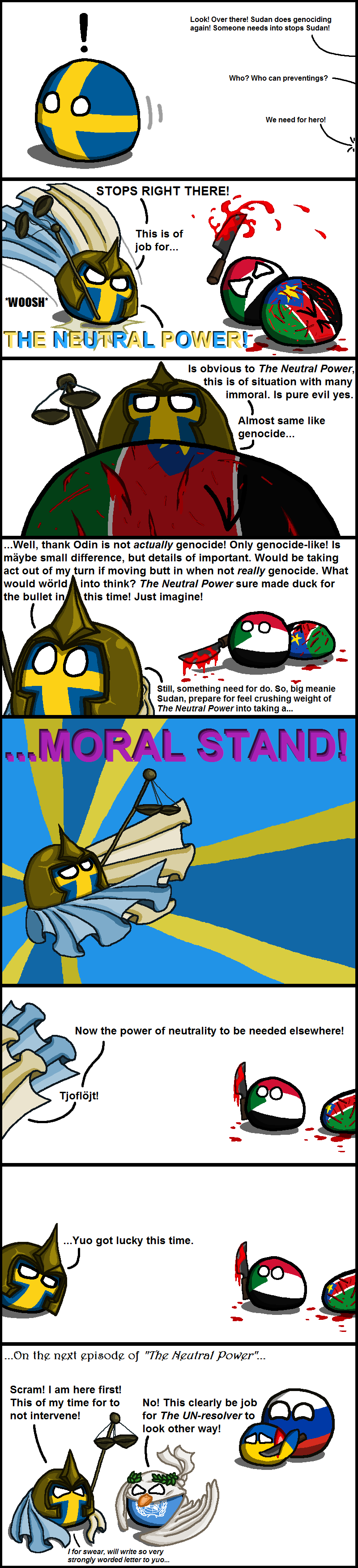Illustration for article titled Daily Polandball: The Adventures of a Neutral Power!