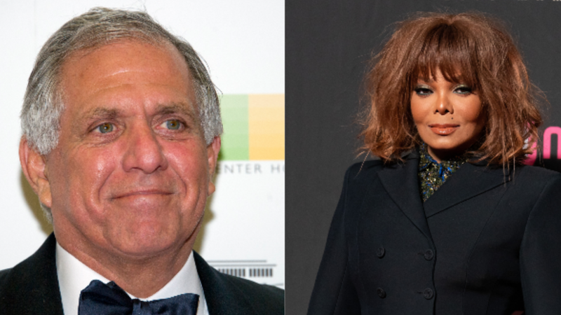 (L-R): Les Moonves, Chairman of the Board, President, and Chief Executive Officer of CBS Corporation, arrives for the formal Artist's Dinner hosted by United States Secretary of State Rex Tillerson in their honor on December 2, 2017 in Washington, D.C.; Janet Jackson attends the 2018 Mnet Music Awards in Hong Kong on December 14, 2018.