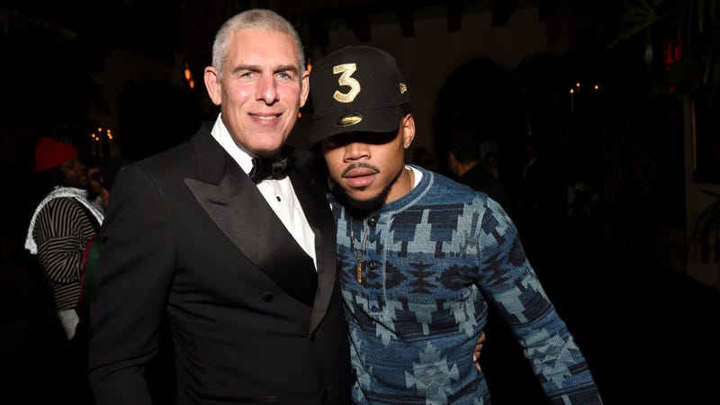 Youtube Head of Global Music Lyor Cohen and Chance The Rapper. Image: Getty