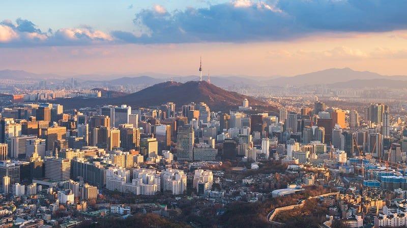 The Seoul skyline.