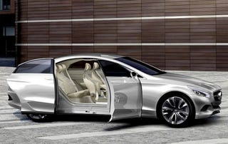 Illustration for article titled 2012 Mercedes CLS Previewed By Plug-In Fuel Cell Hybrid Concept With Minivan Doors