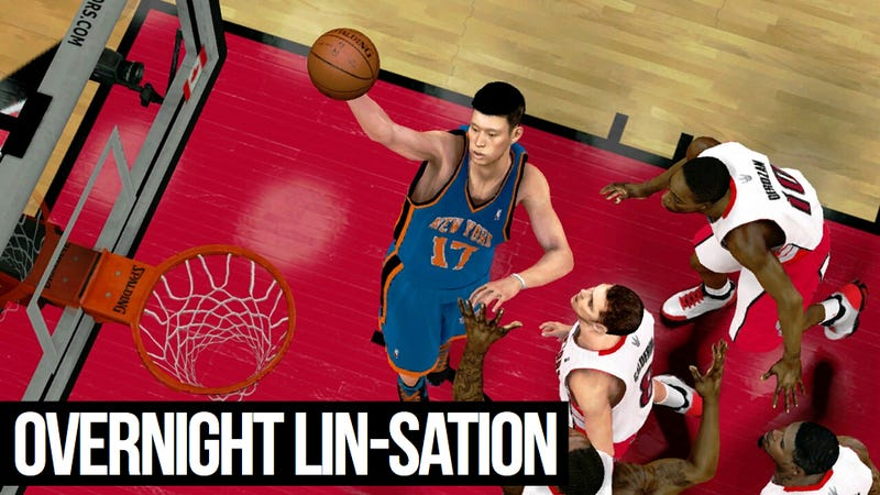 Illustration for article titled The Video Game Version of Jeremy Lin Is Unrealistically Bad at Basketball